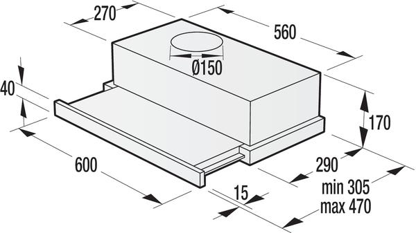 Вытяжка GORENJE BHP 623 E12X (OK-002/II)  3