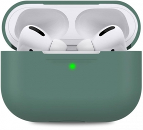 Чехол MakeFuture Silicone для Apple AirPods Pro Green (MCL-AAPGN)