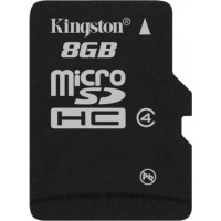карта памяти KINGSTON microSDHC 8 GB Class 4 без адаптера