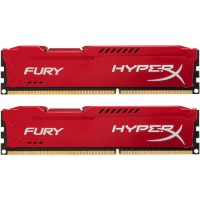 ОЗУ KINGSTON HyperX OC KIT DDR3 2x4Gb 1600Mhz CL10 Fury Red