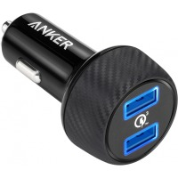 авто зарядка ANKER PowerDrive - 2 Quick Charge 3.0 Ports V3 (Black)