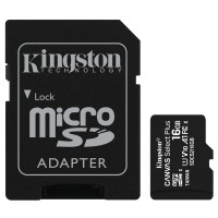 карта памяти KINGSTON microSDHC 16Gb Canvas Select+ A1 (R100/W10) +ad