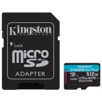 карта памяти KINGSTON microSDXC 512Gb Canvas Go+ U3 V30 (R170/W90)+ad