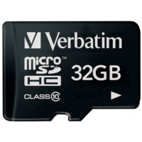 карта памяти VERBATIM CARD microSDHC 32Gb w/SD adapter 44083(CLASS 10)